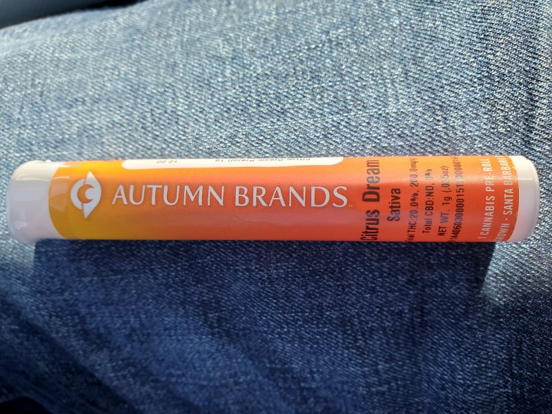 Citrus Dream Strain Review by Autumn Brands